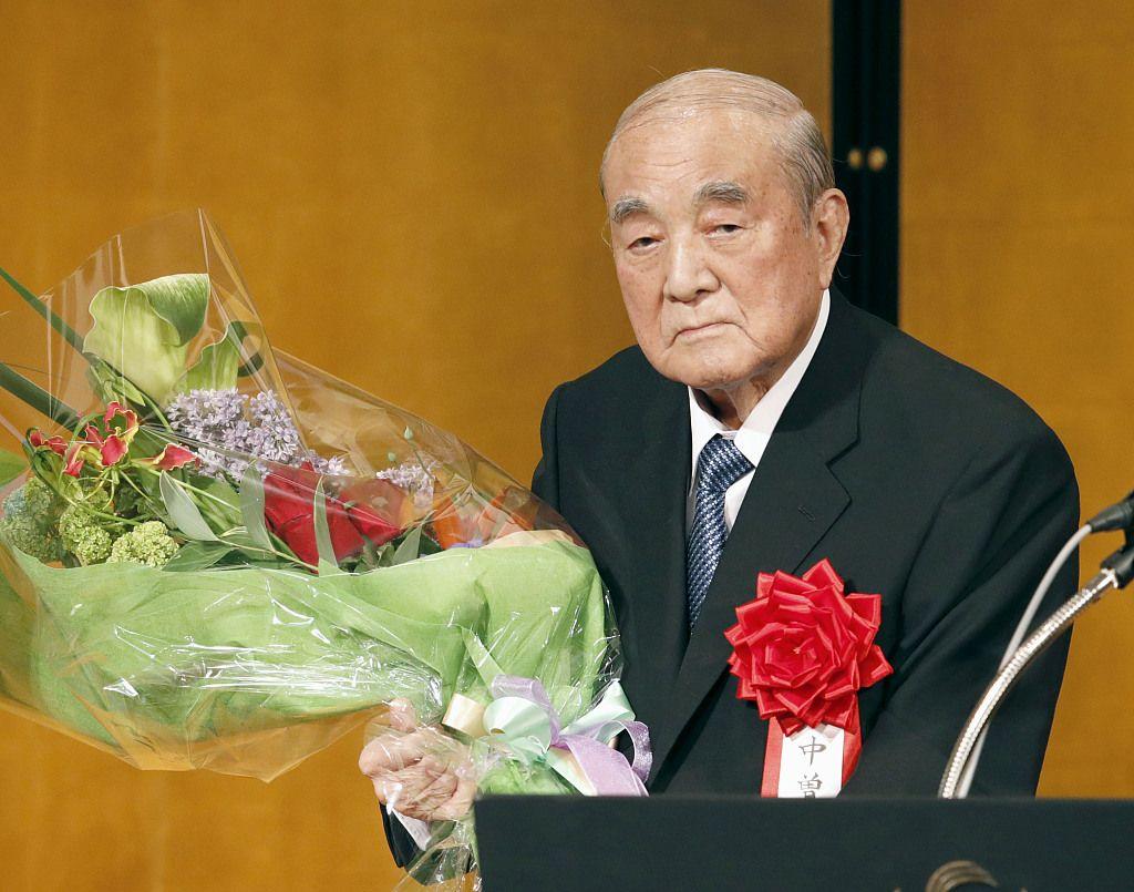 日本前首相中曾根康弘去世,享年101歲