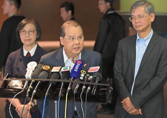 香港政務司司長:拘捕者中有2345名學生 年輕人勿自毀前程