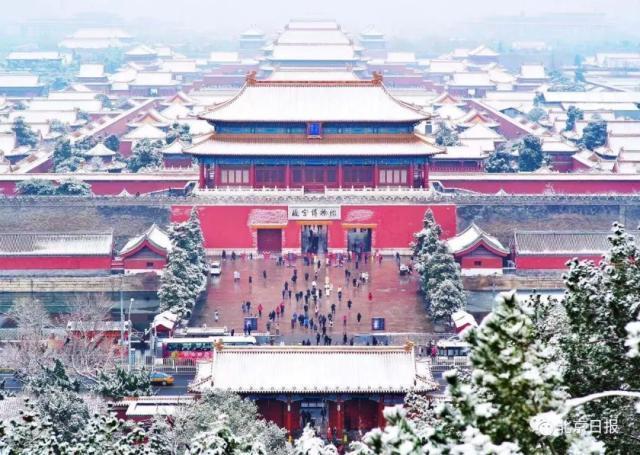 昨夜 北京的第一场雪 今日故宫 八万门票售罄 天坛颐和园玉渊潭美不胜收