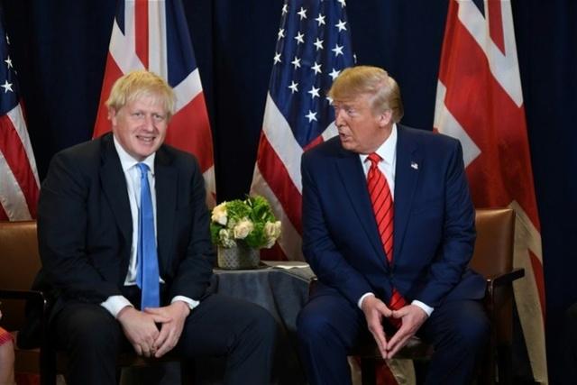 特朗普再贊英首相遭抨擊,約翰遜喊話:別插手英國大選