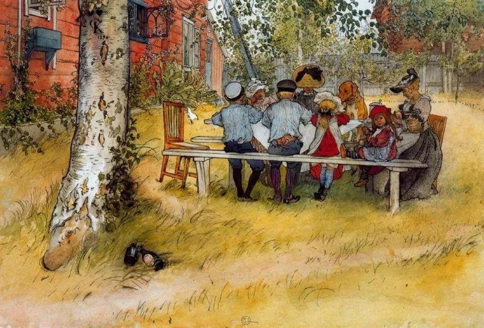 瑞典著名画家卡尔-拉森作品欣赏