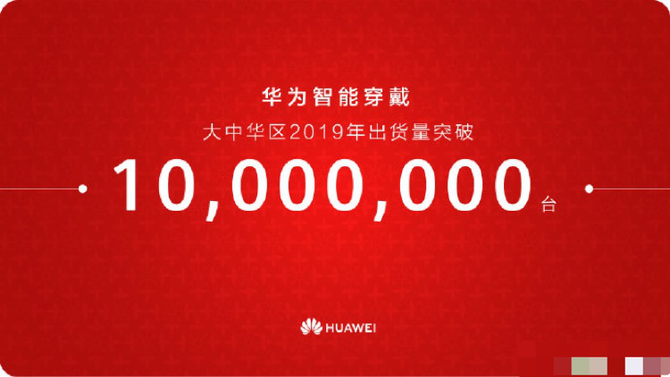 華為新戰績:智能穿戴發貨量已破1000萬