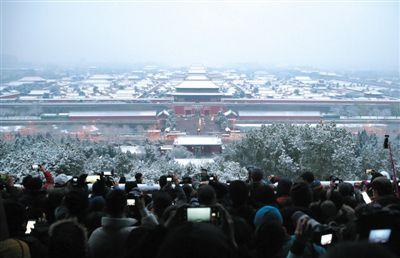 初雪故宫裹银装