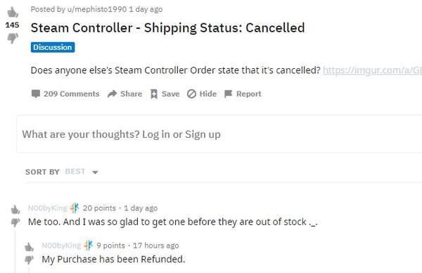 V社取消玩家的Steam手柄订单并退款或因太火爆而缺货_促销