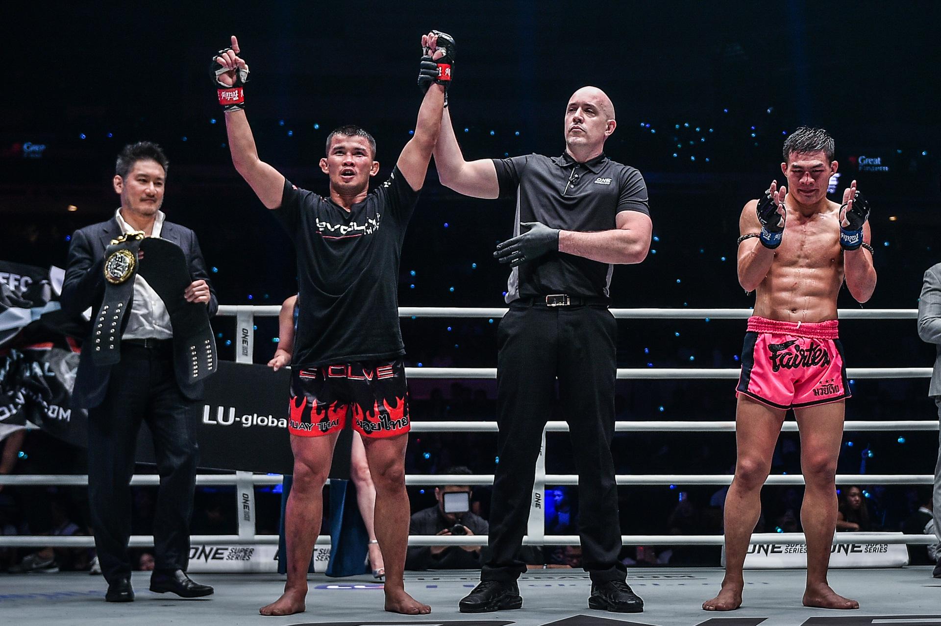 ONE冠军赛新加坡站结束,泰国传奇霸气三度卫冕