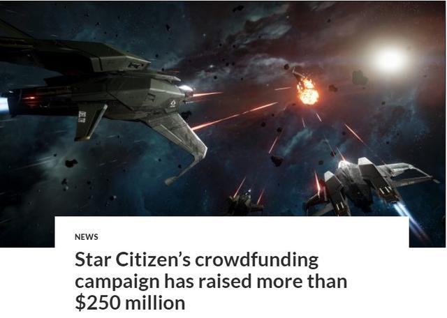 《星际公民》众筹金额超2.5亿美刀人数达244万_玩家