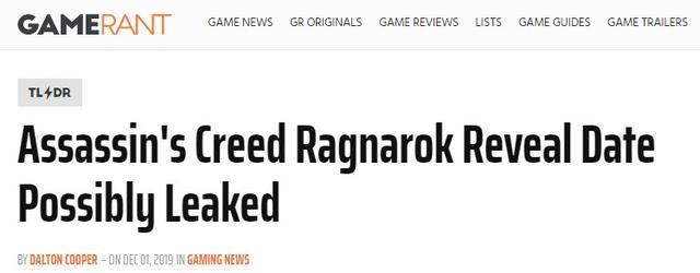 传闻:新作《刺客信条:诸神黄昏》或与PS5同时发布_消息