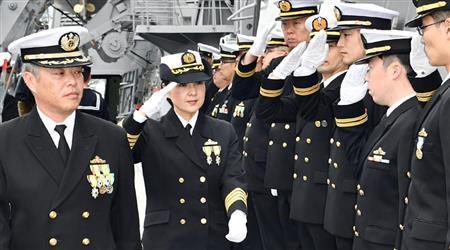 日本神盾驱逐舰迎来首位女舰长(图)