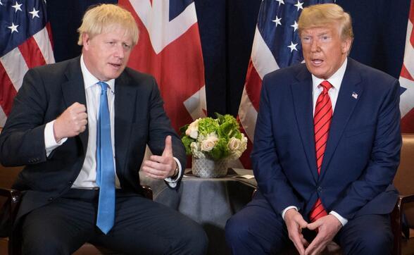 约翰逊北约峰会前喊话特朗普勿干涉大选,美媒编辑:特朗普最好是离他远点_英国