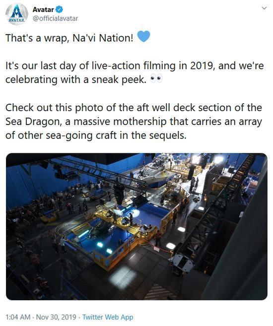 《阿凡达2》已完成2019年真人拍摄:2021年上映_进行