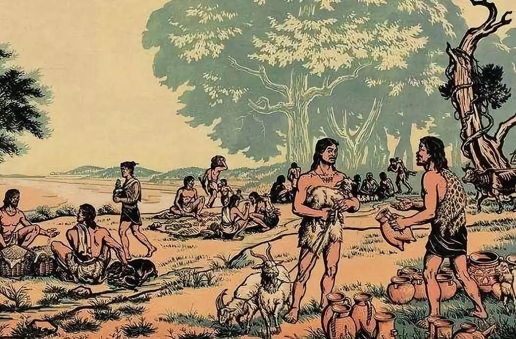 """原始社会""""物物交换"""" 资料图片来源网络图片"""