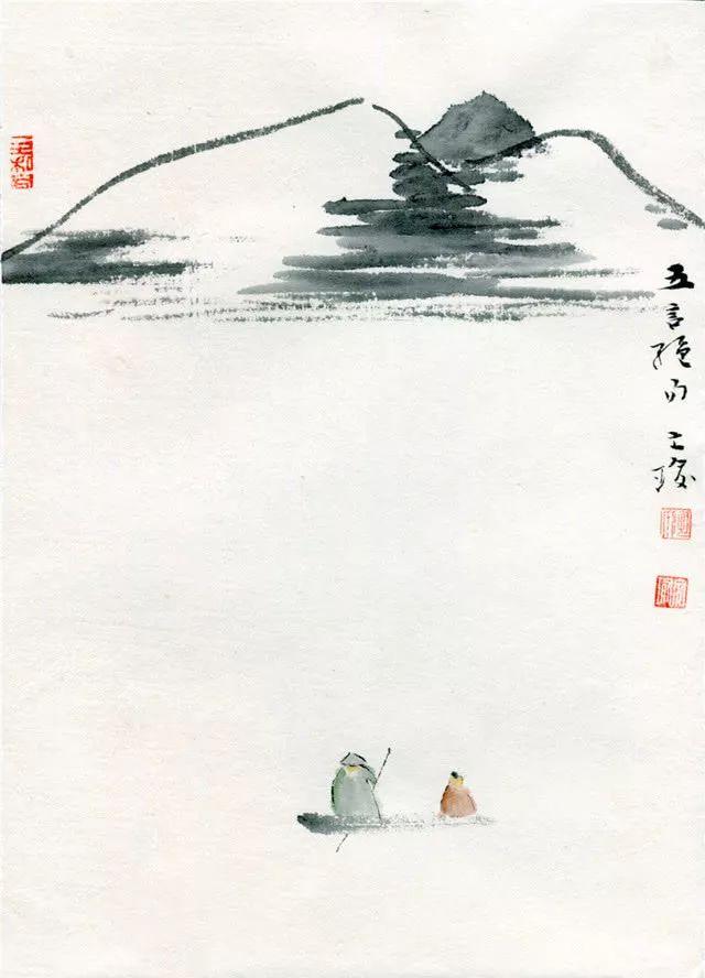 陶文瑜画作:青果图、五言绝句