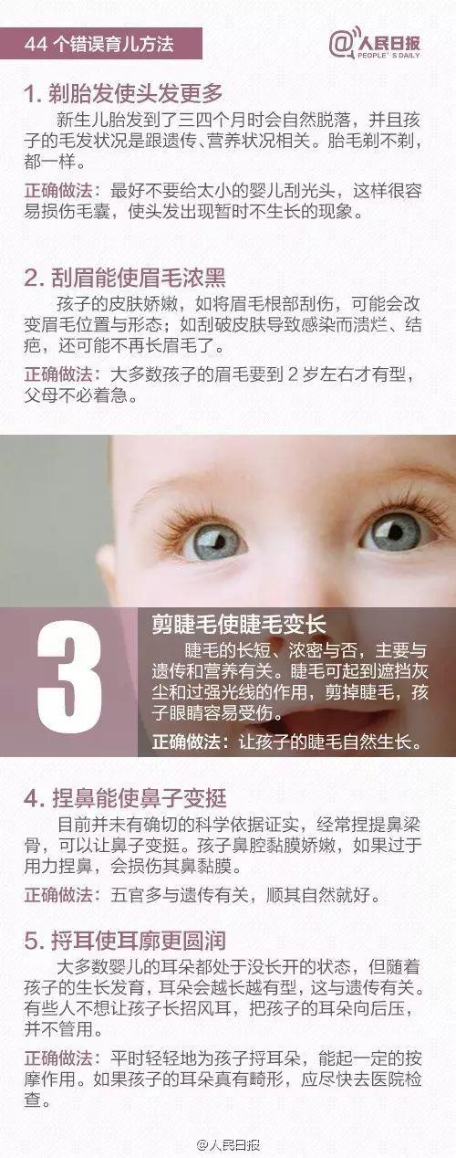 《人民日报》曝光44条错误育儿法,别让老一辈的经验害了娃