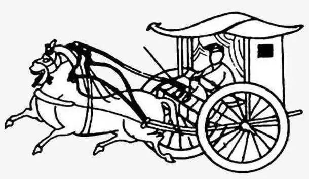 中国古代马车简笔画