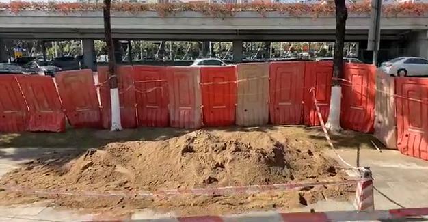 廣州又一處路面發生塌陷,幸無人員傷亡_番禺