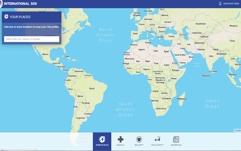 旅行风险地图:2020年世界上最安