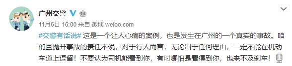 廣州一男子在車流中演示如何被撞,卻害死勸阻女友,男子獲刑!