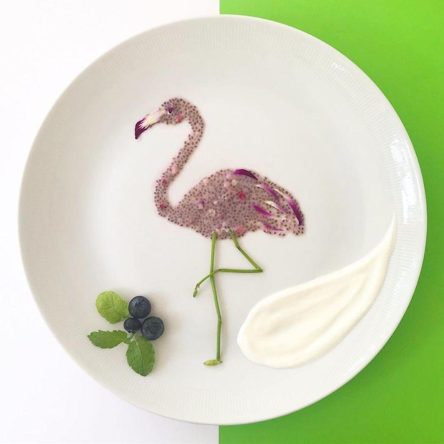 外国网友用食物 作画 形象太逼真