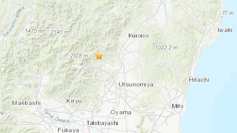 日本关东北部发生4.7级地震 震源深度10千米