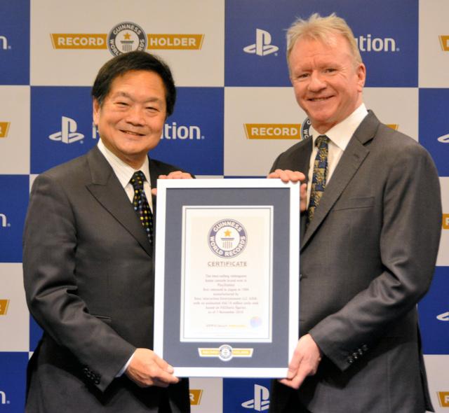 """吉尼斯世界纪录认定索尼PS系列为""""世界销量最多的家用游戏机""""_一代"""