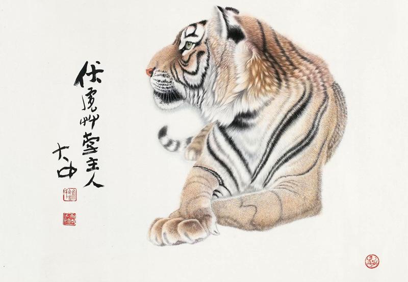 """把老虎画成""""病猫"""",为何被誉为传世名画?放大10倍,看老虎眼睛"""