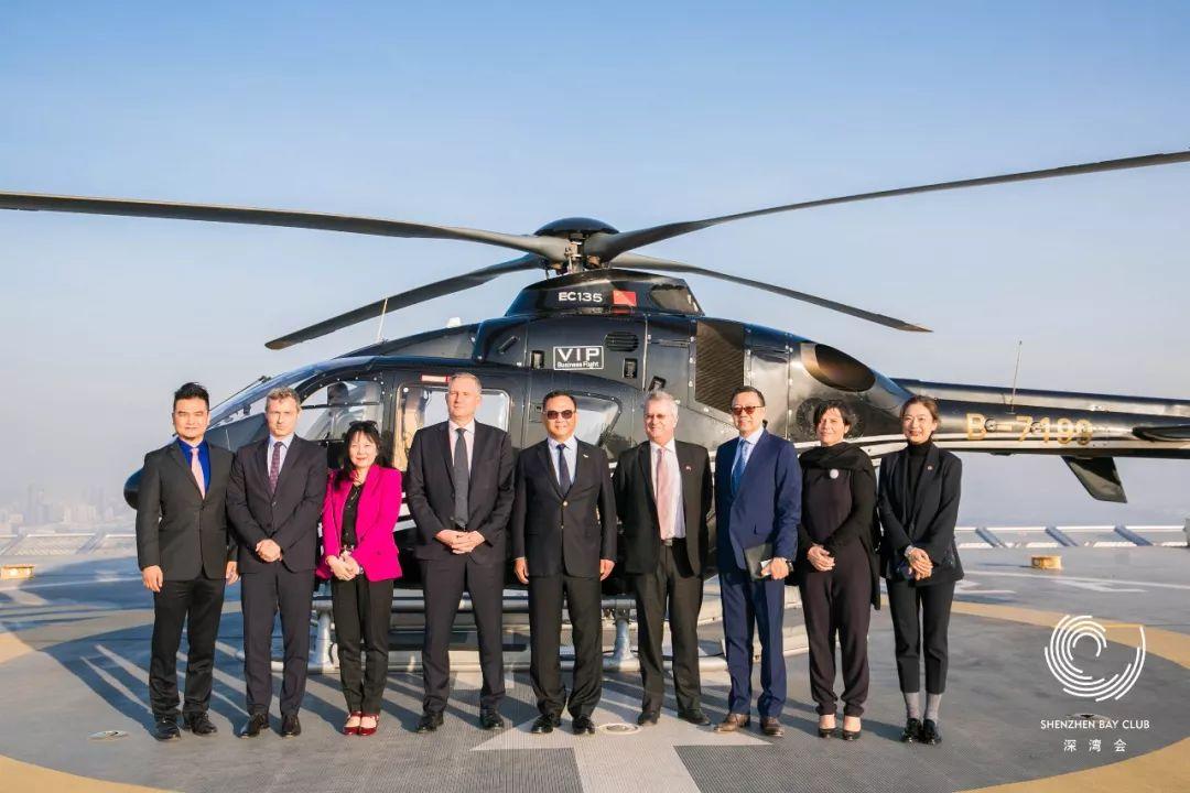 新任法国驻华大使到访深圳湾1号,体验深圳城市飞行