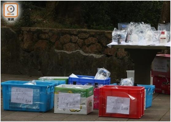 荃湾现59支瓶装化学液体,港警不排除是港中大失窃化学品