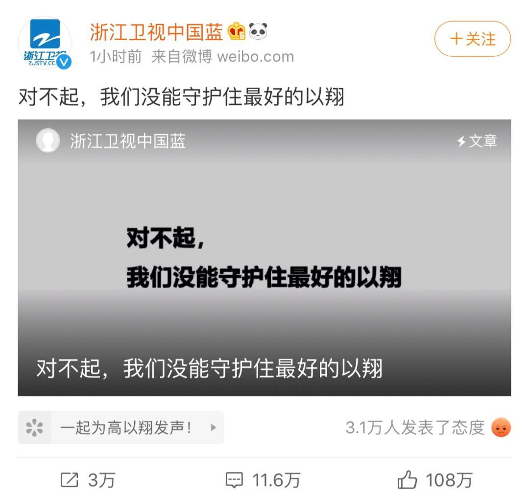 高去世第九天,浙江卫视终于发声,《追我吧》永久停播,更多细节再次引