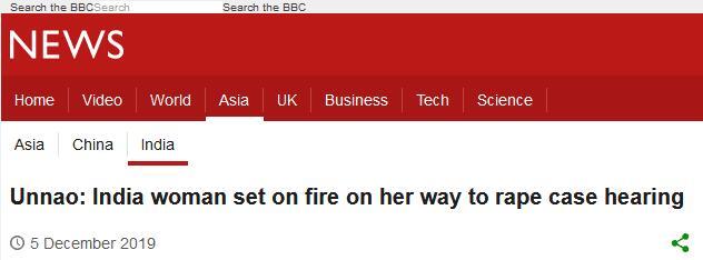 印度一女子出庭指证强奸犯,途中被纵火全身90%烧伤