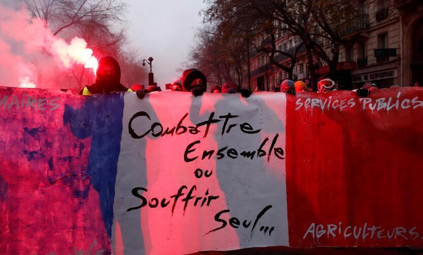 法國大罷工最新:工會呼吁12月10日舉行新的罷工抗議