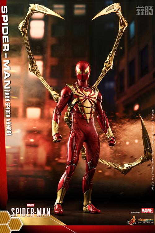 HotToys推出PS4《漫威蜘蛛侠》钢铁蜘蛛装甲战衣1:6人偶_金色