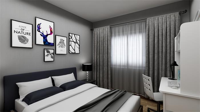 卫生间更注重实用性,各个功能区一一排布,墙地面通铺白色大理石纹