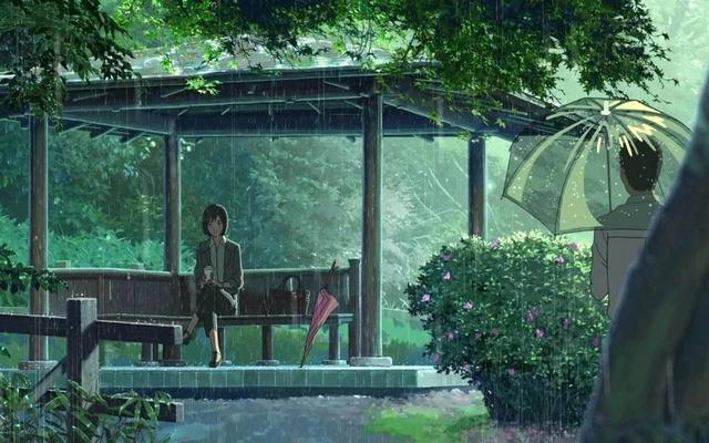 下雨天遇見三亞最治愈酒店,走進新海誠《言葉之庭》的動漫世界_中庭