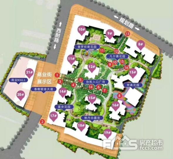 天健城平面图