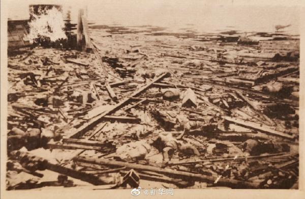侵华日军相册中发现南京大屠杀原版照片_尸体