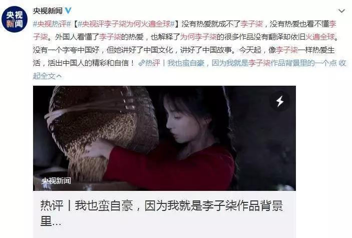"""中国网红海外赚钱排行榜 """"火爆全球""""的李子柒能排第几?"""
