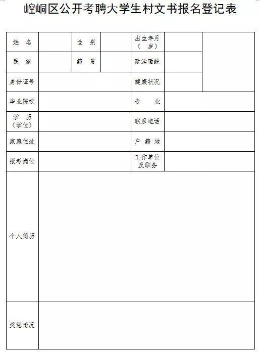 70名!崆峒区2019年公开考聘大学生村文书公告发布