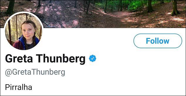 """遭巴西总统吐槽是""""小屁孩"""",16岁瑞典环保少女又改推特签名了"""