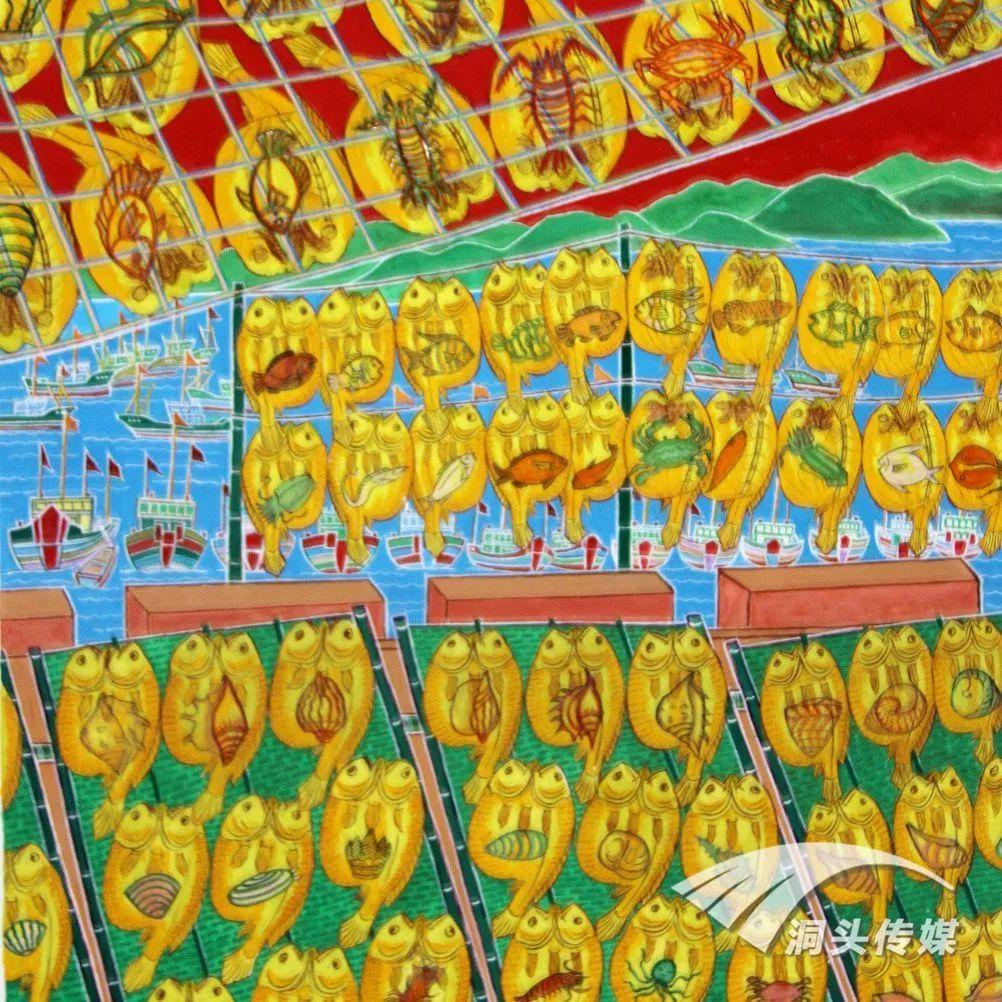 浙江省现代民间绘画邀请展本月开幕 洞头渔民画获奖