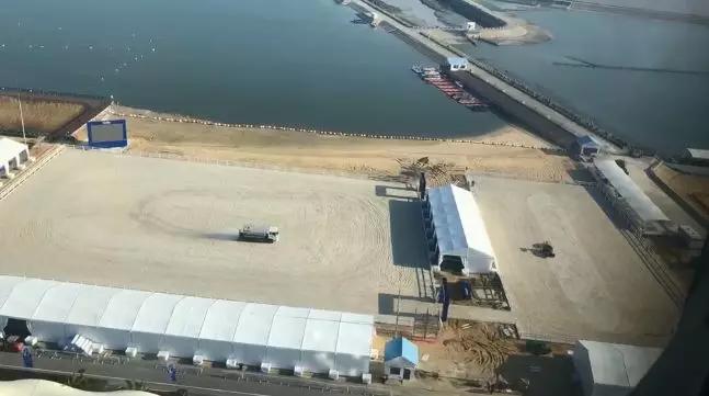 山东福龙马业和河南队率先抵达2019全国马术场地障碍锦标赛现场