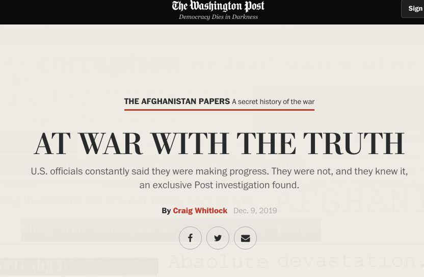 阿富汗战争机密文件曝光,18年来