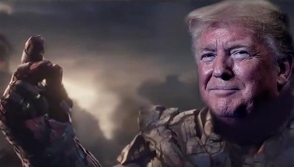 """特朗普化身灭霸打了个响指,弹劾他的民主党人""""灰飞烟灭"""""""