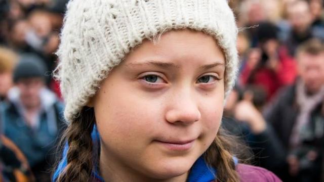《时代》周刊2019年度人物是她!16岁瑞典环保少女通贝里