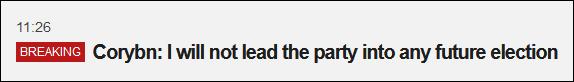 要辞职?科尔宾:不会领导工党参?#28216;?#26469;选举