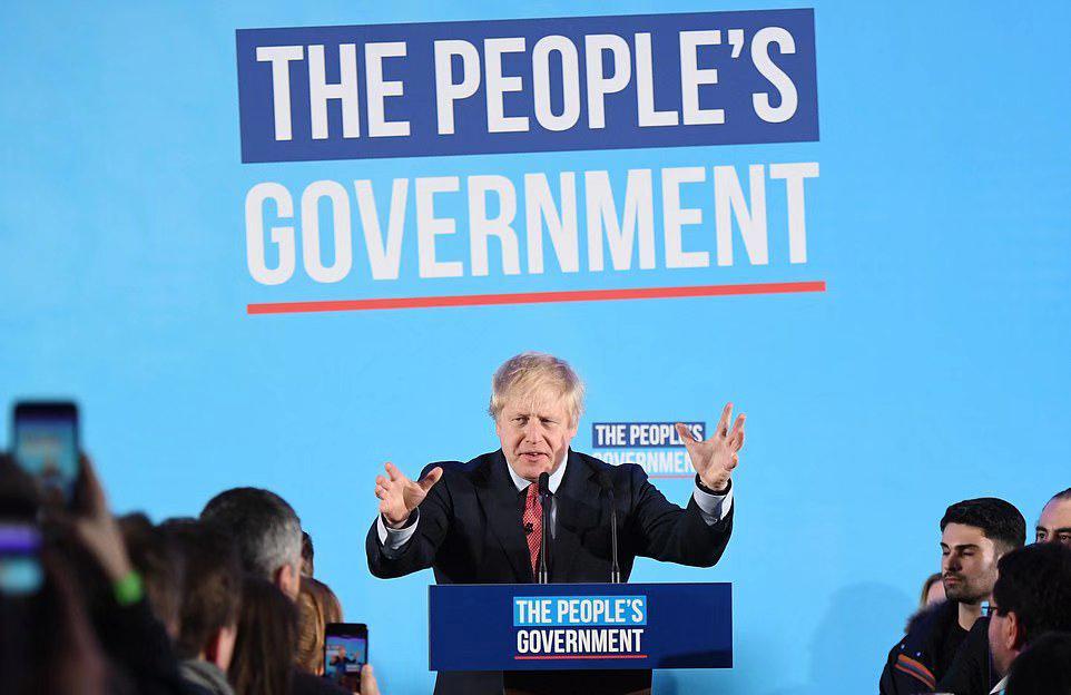 好声音直播约翰逊领导保守党赢得议会选举压倒