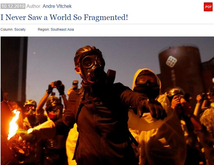 美战地记者:我提醒香港暴徒被美国利用,却被他们当成疯子