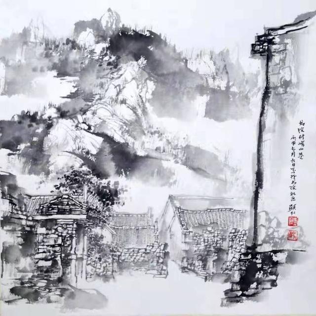 <b>他的中国山水画,气韵生动,扑面而来</b>