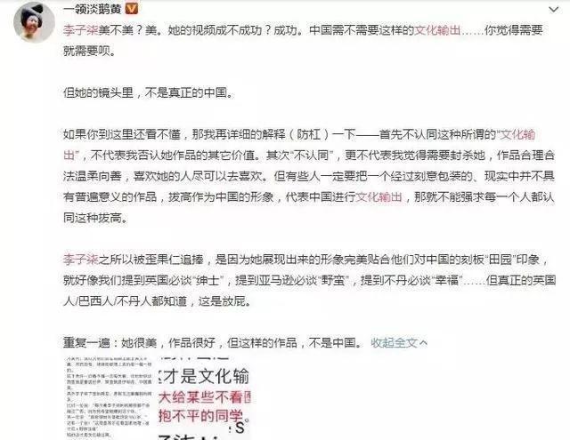 凭什么张艺谋能被捧为国师,李子柒就不能代表中国?