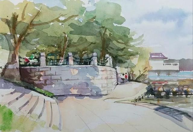 秋岛上的杉树林   烈士公园的民俗村吊脚楼   天气好,心情好,画画欲望爆棚,恨不能分身,一个在岳麓山,一个在烈士公园;一个在画老街古巷,一个在图片