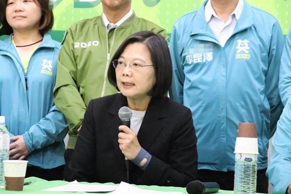 鼎足而三蔡英文遭呛:韩国瑜要选2020民进党才想